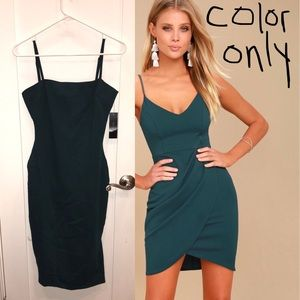 NEW! Lulu's Bodycon Dress in Teal! Size M.